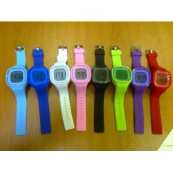 Silikónové hodinky digitálne hranaté Jelly - DIGIW