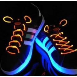Svietiace LED šnúrky do topánok červené LED-TK