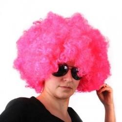 Afro parochňa - ružová