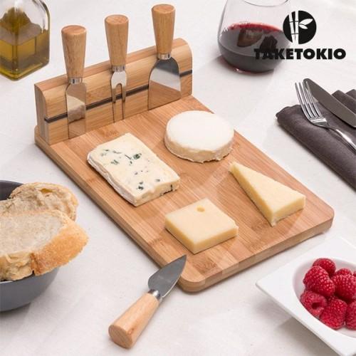 Bambusová doska na syr so sadou nástrojov