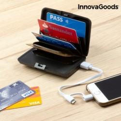Bezpečnostné púzdro na platobné karty s Powerbankou pre iOS a Android