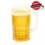 Chladiaci dvojplášťový pohár na pivo zlatý
