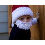 Mikulášska čiapka s bradou pre deti