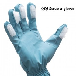 Čistiace rukavice s kefkami