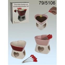 Čokoládové fondue v tvare srdca
