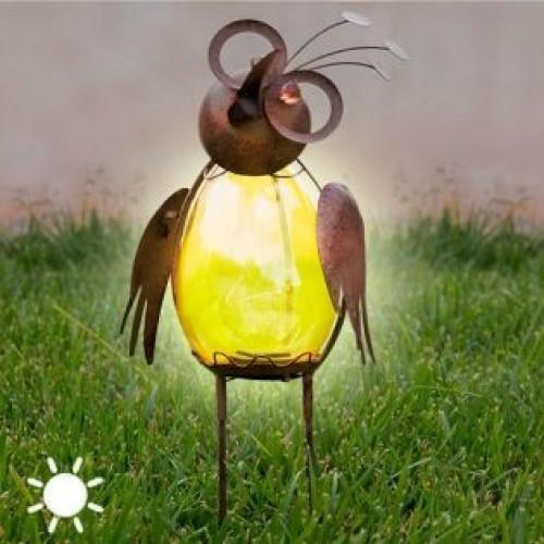 Dekoračná solárna lampa - Vták