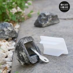 Dekoračný kameň na úschovu kľúčov
