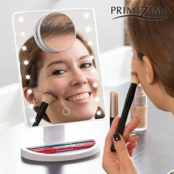 Kozmetické zväčšovacie zrkadlo s LED osvetlením Primizima