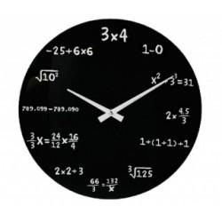 Matematické hodiny čierne
