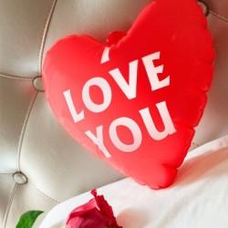 Nafukovacie srdce s nápisom I love you