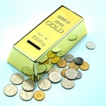 Pokladnička zlatá tehla