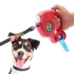 Vodítko pre psy so svetlom a sáčkami