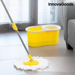 Rotačný mop s dvojitým účinkom a vedrom Houseware