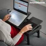 Skladací stolík pod notebook s LED lampou