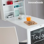 Sklápací písací stôl a skrinka na stenu 4v1