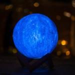 Slnko 3D stolná lampa