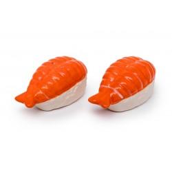 Soľnička a korenička v tvare Sushi
