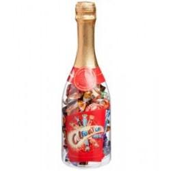 Detské šampanské plné cukríkov