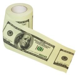 Toaletný papier 100 dolárovky