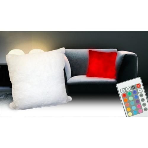 Svietiaci LED vankúš na diaľkové ovládanie 36 x 36 cm