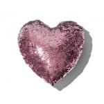 Čarovný vankúš Srdce ružovo strieborné, 37 cm