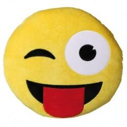 Vankúš smajlík žmurkajúci s jazykom 30 cm
