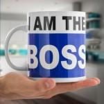 Maxi hrnček pre šéfa - I am the Boss