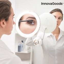 Kozmetické zväčšovacie LED zrkadlo